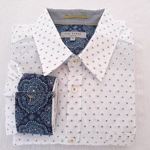 Ted Baker London Mens Sz 4 Long Sleeve Dress Shirt